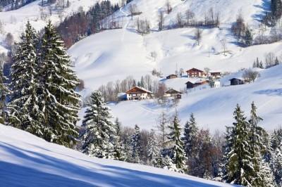 Winterlandschaft im Chiemgau