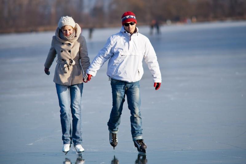 Eislaufen am Chiemsee