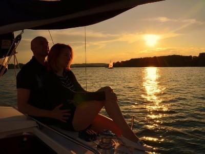Sonnenuntergang auf dem Chiemsee