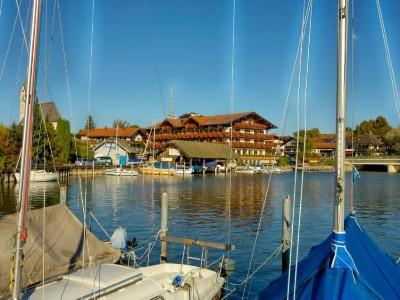 Ansicht vom Yachthafen