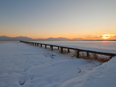 Chiemsee im Winter
