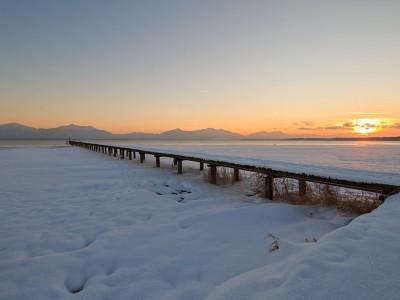 Der Chiemsee im Winter