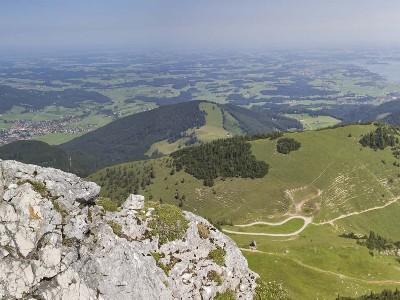 Blick auf den Chiemgau im Sommer