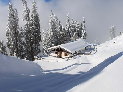 Die Berge im Winter