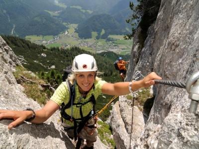 Klettersteig auf der Steinplatte
