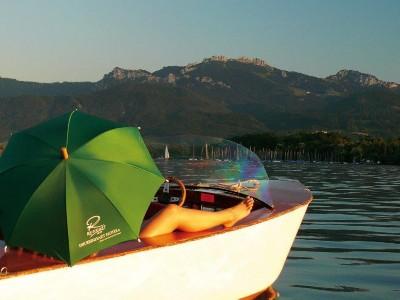 Panoramablick vom Boot